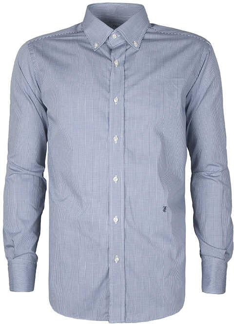 Trussardi Collection Koszula Biały, Niebieski