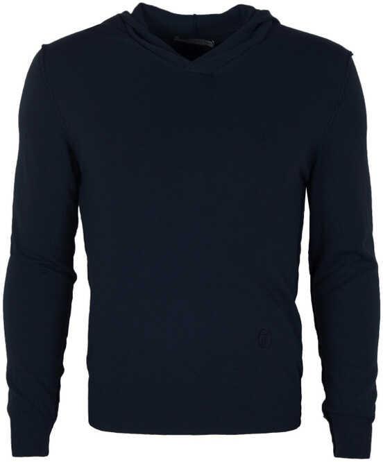 Trussardi Collection Sweter Granatowy