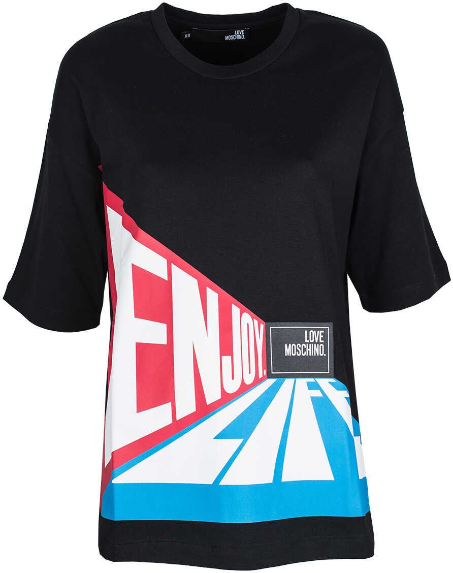 LOVE Moschino T-shirt Czarny