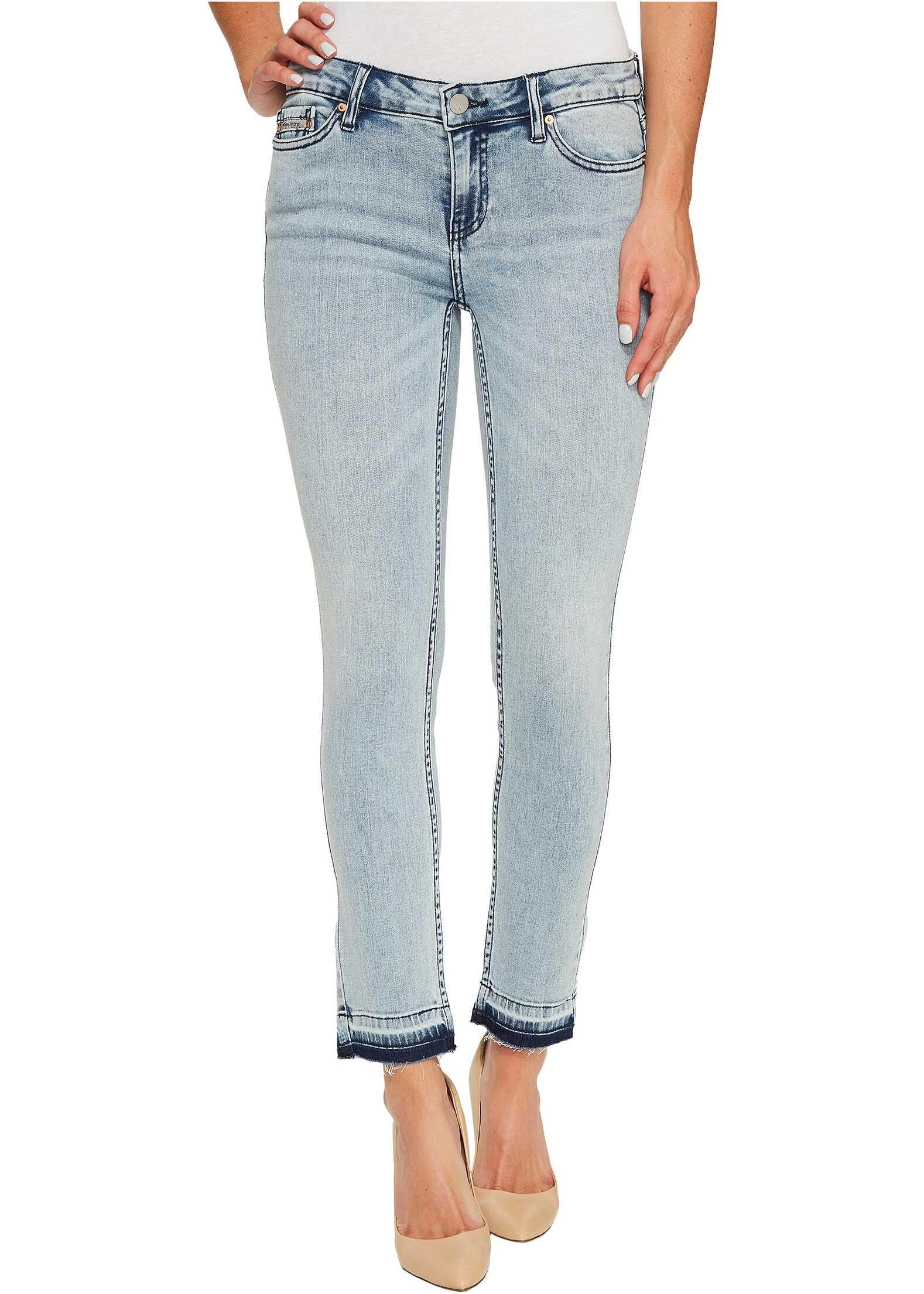 Calvin Klein Jeans Ankle Skinny Jeans in Isla Blue Destruct Wash Isla Blue Destruct