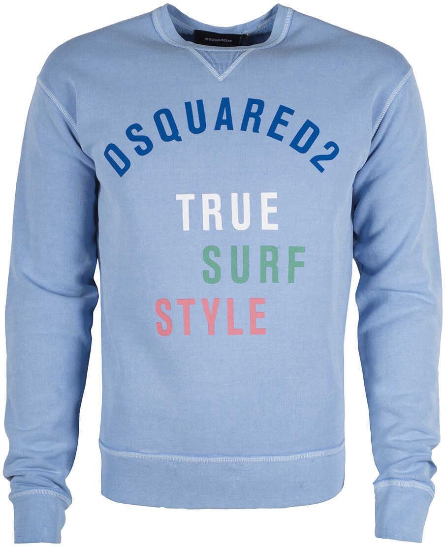DSQUARED2 Bluza Niebieski