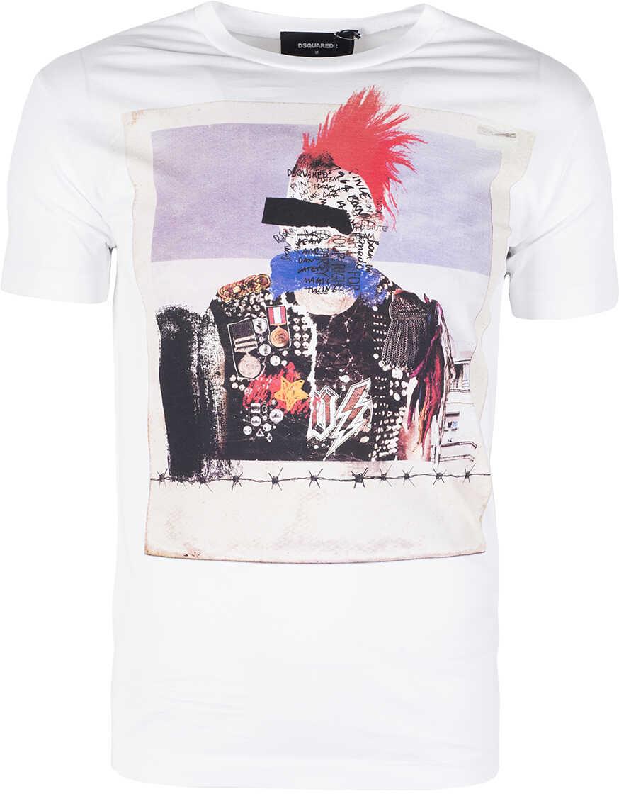 DSQUARED2 T-shirt Biały