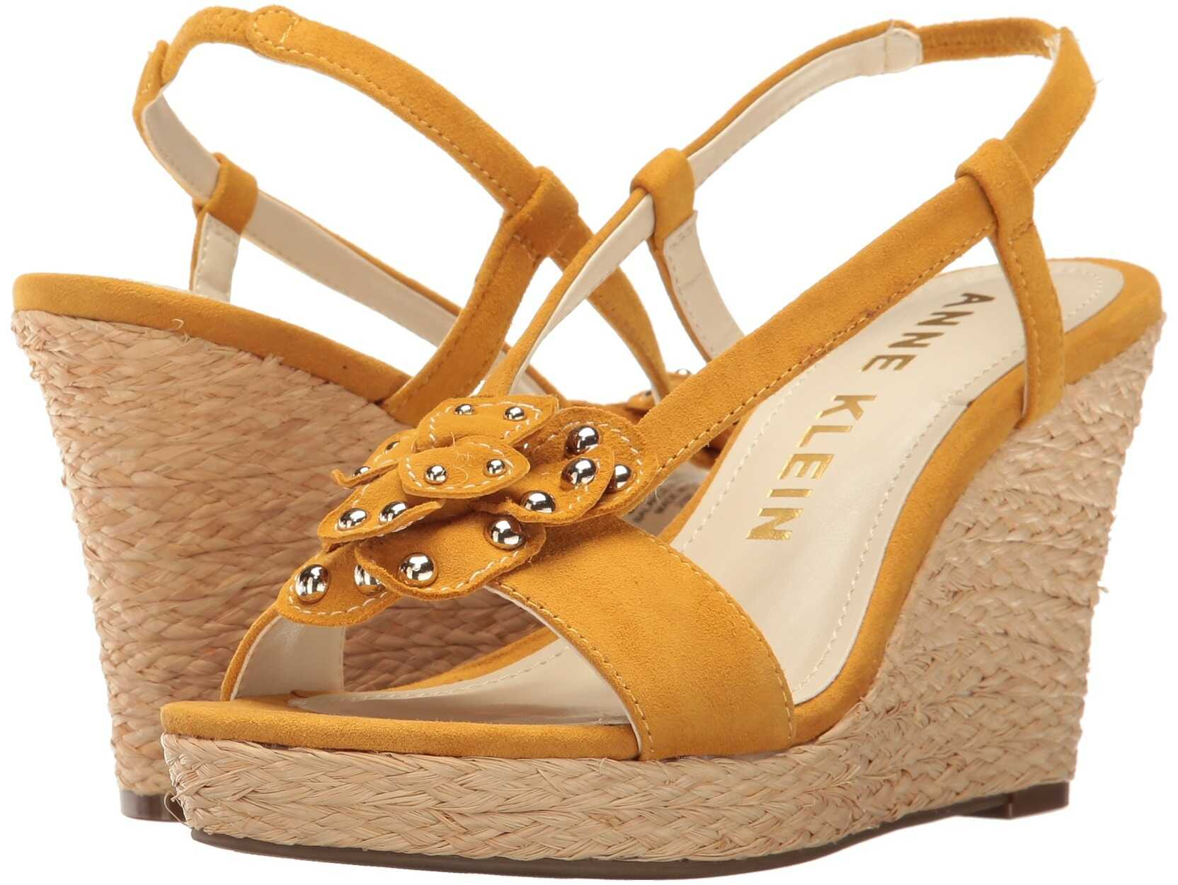 Anne Klein Marigold Dark Yellow Suede