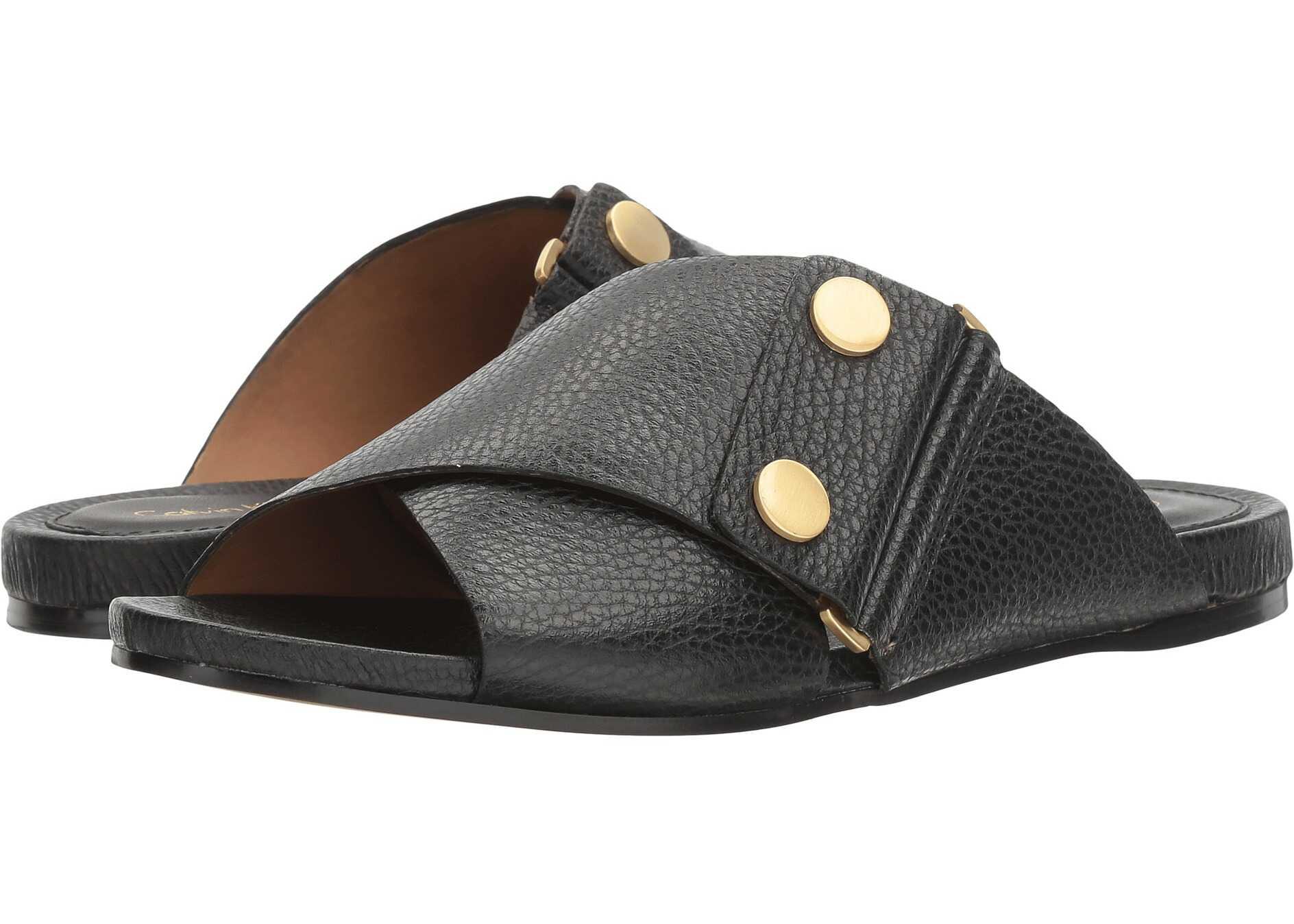 Sandale Femei Calvin Klein Pamice Black Leather