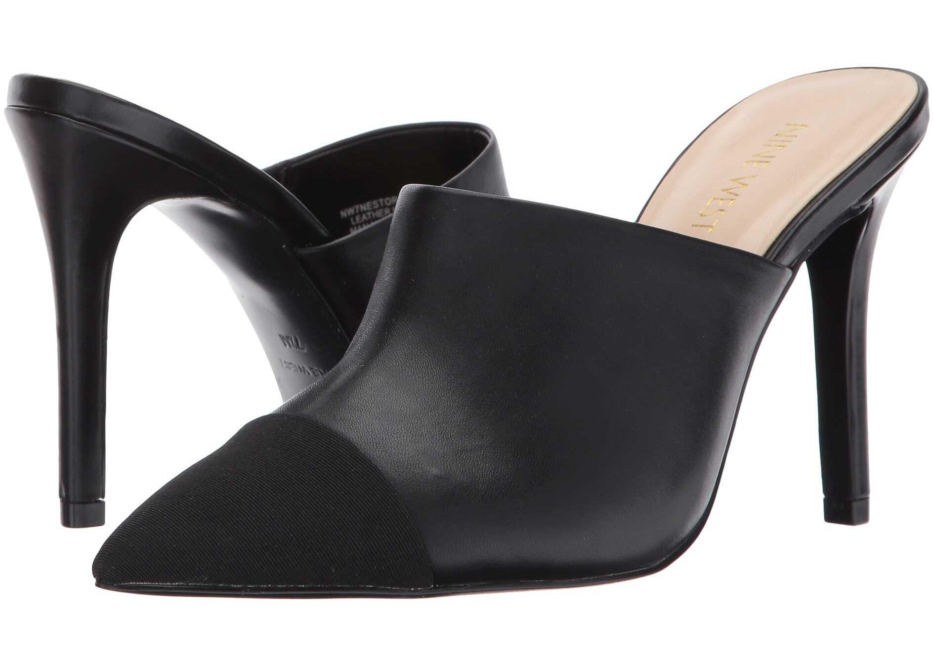 Nine West Nestorie Black/Black Leather