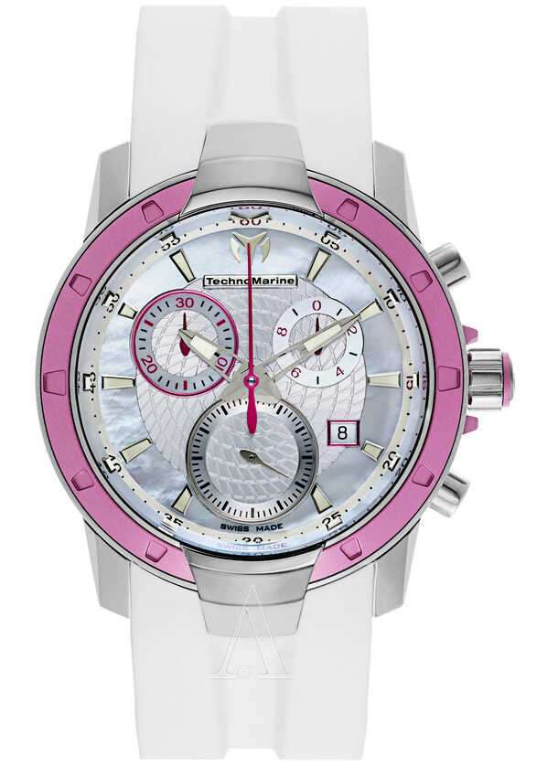 Technomarine UF6 Watch White Mother-of-Pearl and Silver