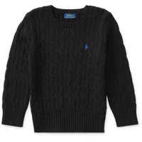 Pulovere Cable-Knit Cotton Sweater Baieti