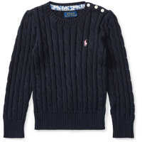 Pulovere Cable-Knit Cotton Sweater Fete