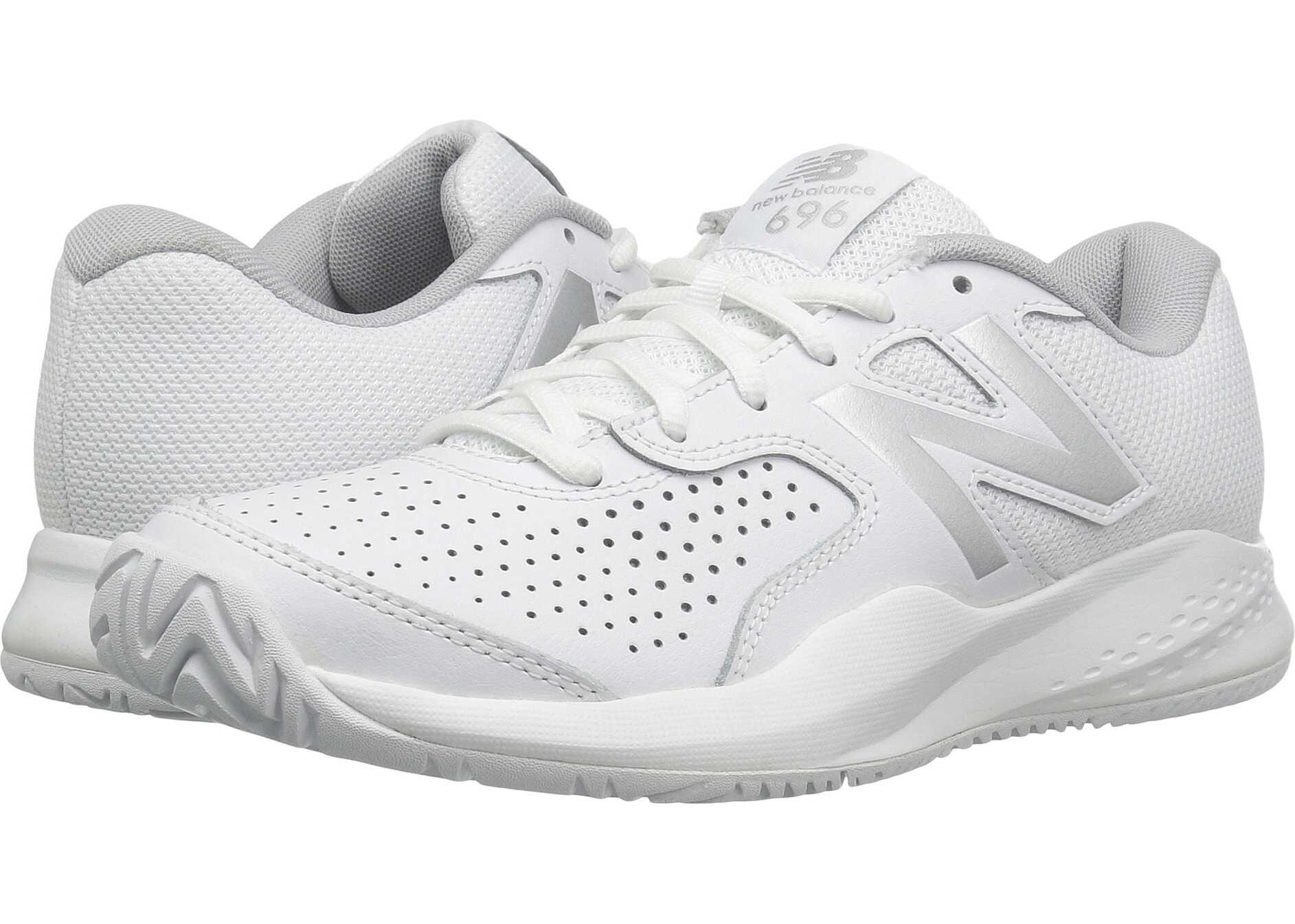 New Balance WC696v3 White/Silver
