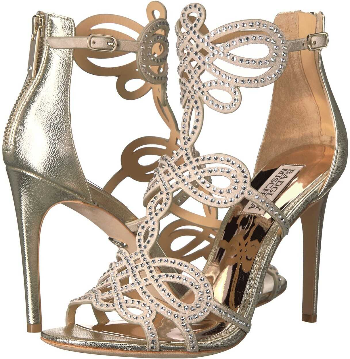 Badgley Mischka Teri Platino Metallic Suede