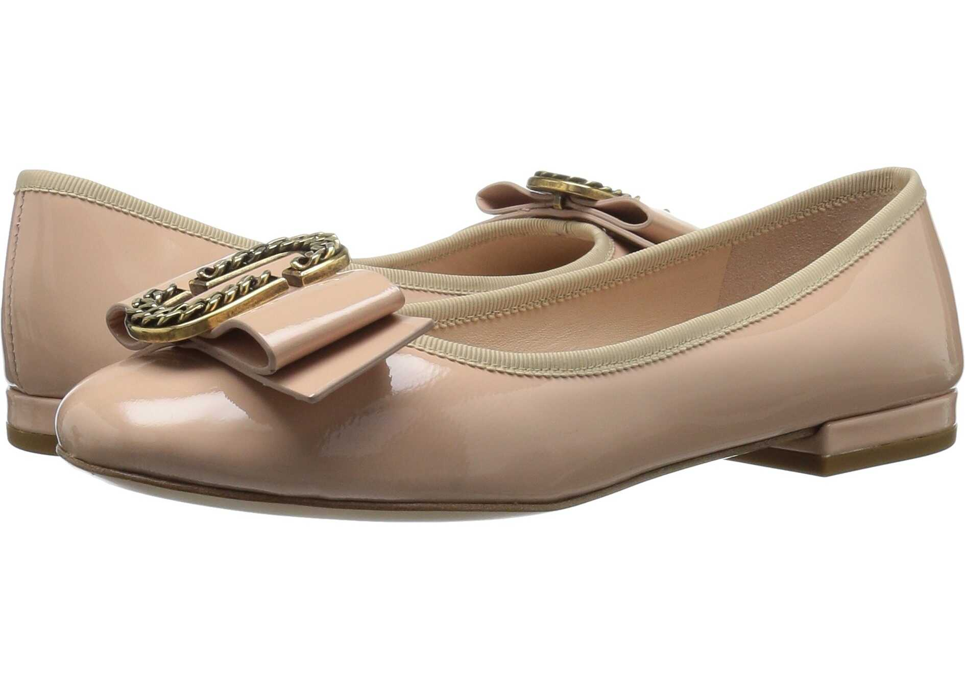 Marc Jacobs Interlock Round Toe Ballerina Nude
