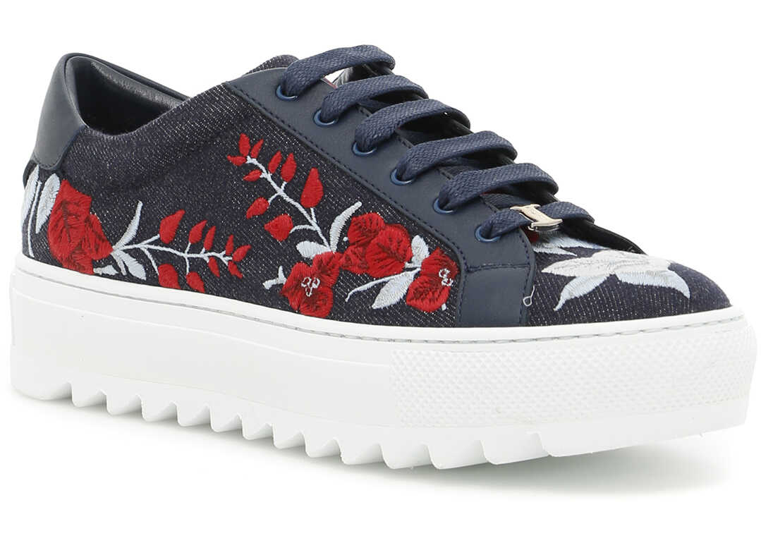 Salvatore Ferragamo Denim Eddy Sneakers* BLU DENIM