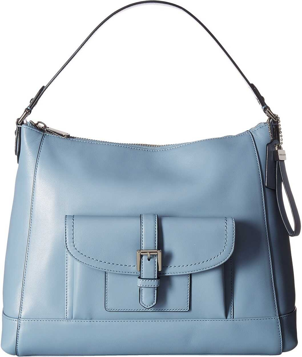 COACH Charlie Leather Hobo Cornflower