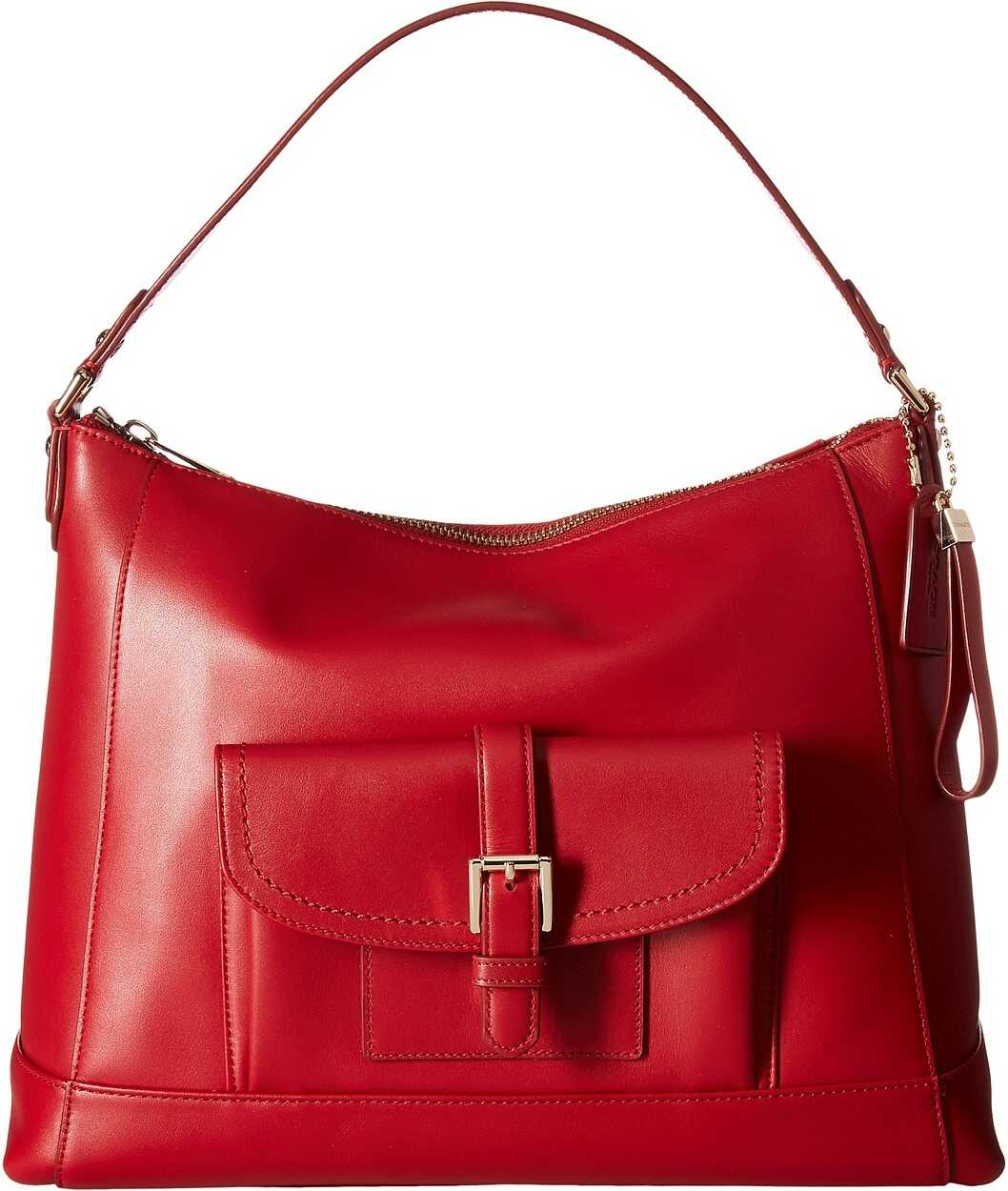 COACH Charlie Leather Hobo Classic Red