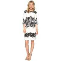 Rochii elegante Fitted Placed Printed Lace Femei