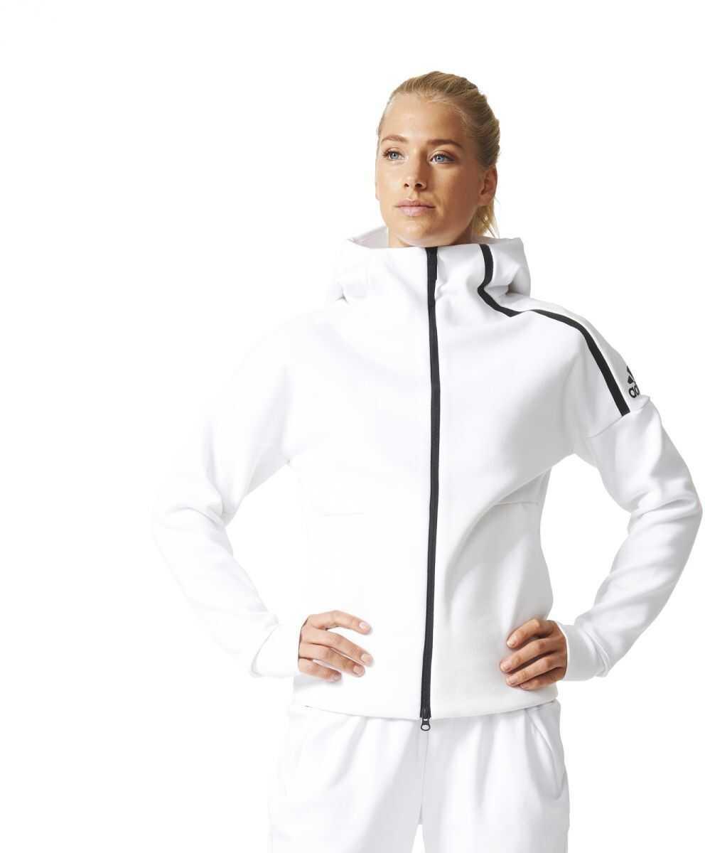 Bluza Sport Femei Adidas Zne Hoody White