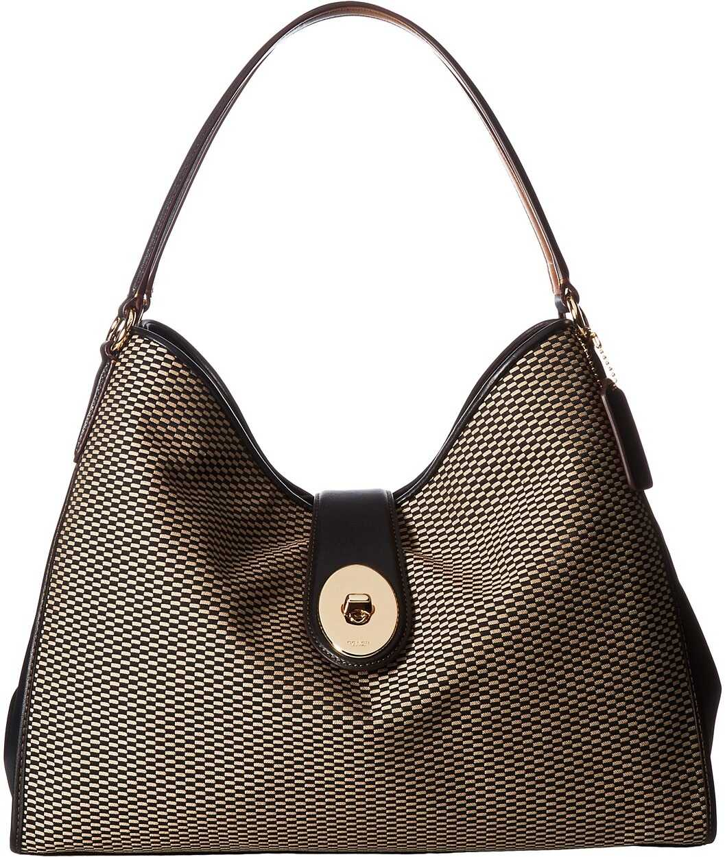 COACH Madison Exploded Reps Carlyle Shoulder Bag Milk/Black