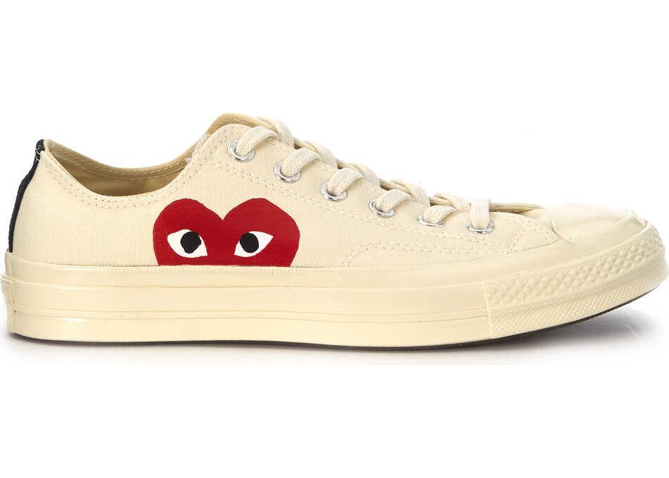 17543a985bde73 Tenisi   Adidasi Barbati Comme des Garçons Play X Converse Beige Canvas  Sneaker
