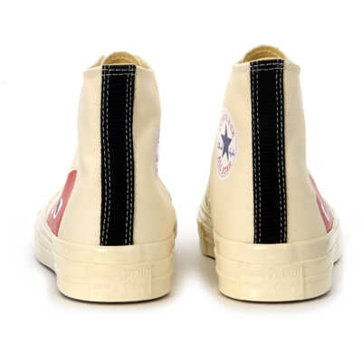37547007d2b01a Tenisi   Adidasi X Converse High Beige Canvas Sneaker Barbati. Comme des  Garçons Play