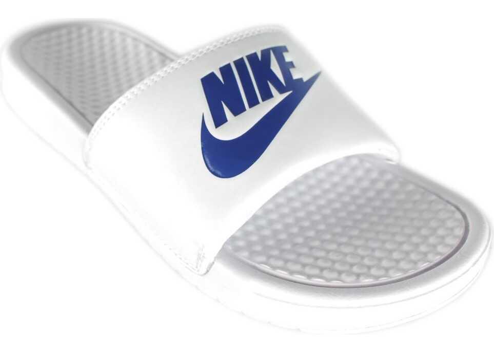 Nike Benassi Swoosh Alb/Albastre