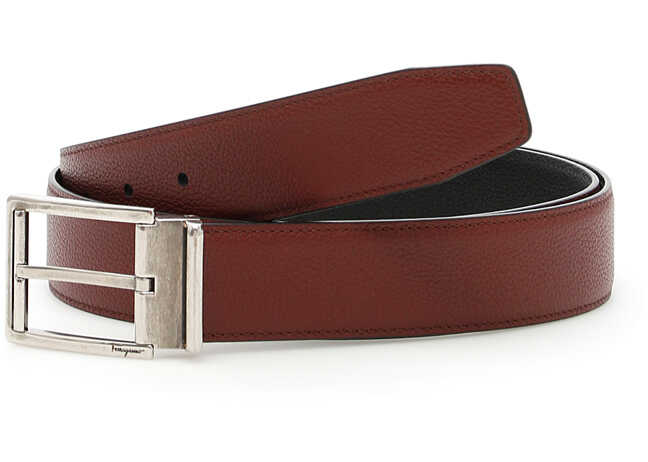 Salvatore Ferragamo Reversible Belt BURNT RUSS