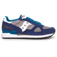 Tenisi & Adidasi Saucony Sneaker Saucony Shadow In Suede And Grey And Blue Mesh Fabric