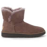 Ghete & Cizme Classic Cuff Mini Ankle Boots In Brown Suede Leather Femei