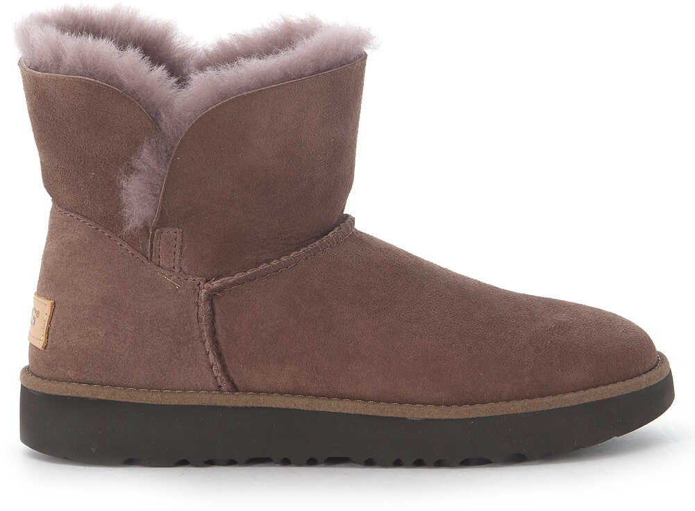 UGG Classic Cuff Mini Ankle Boots In Brown Suede Leather Brown