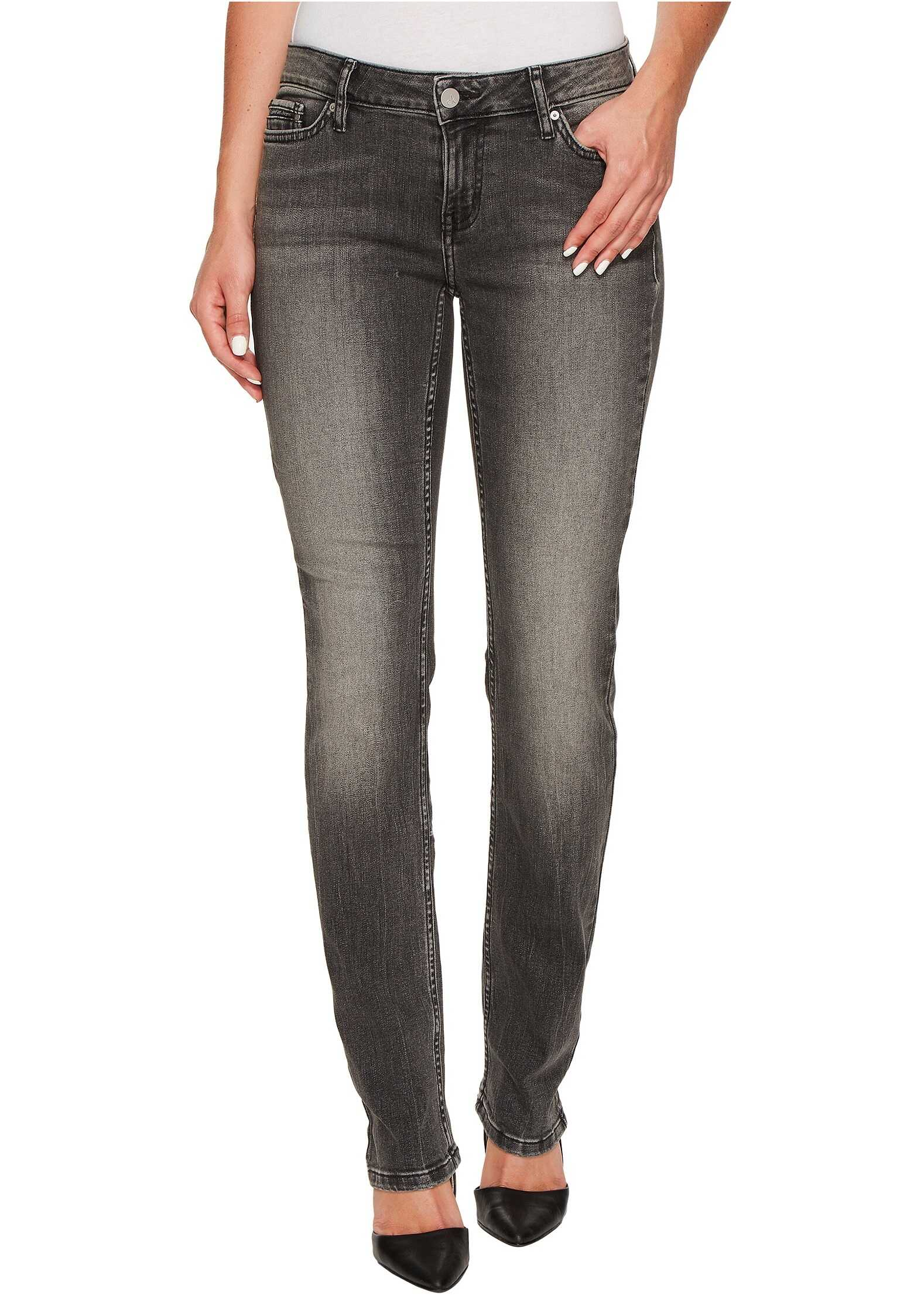 Calvin Klein Jeans Straight Leg Jeans in Black Top Wash Black Top