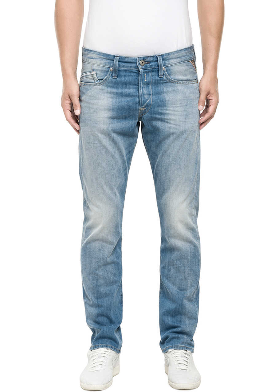 Replay Deep Blue Jeans Regular Fit* Blue Denim 10