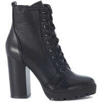 Ghete & Cizme Laurie Black Leather Combat Boot Femei
