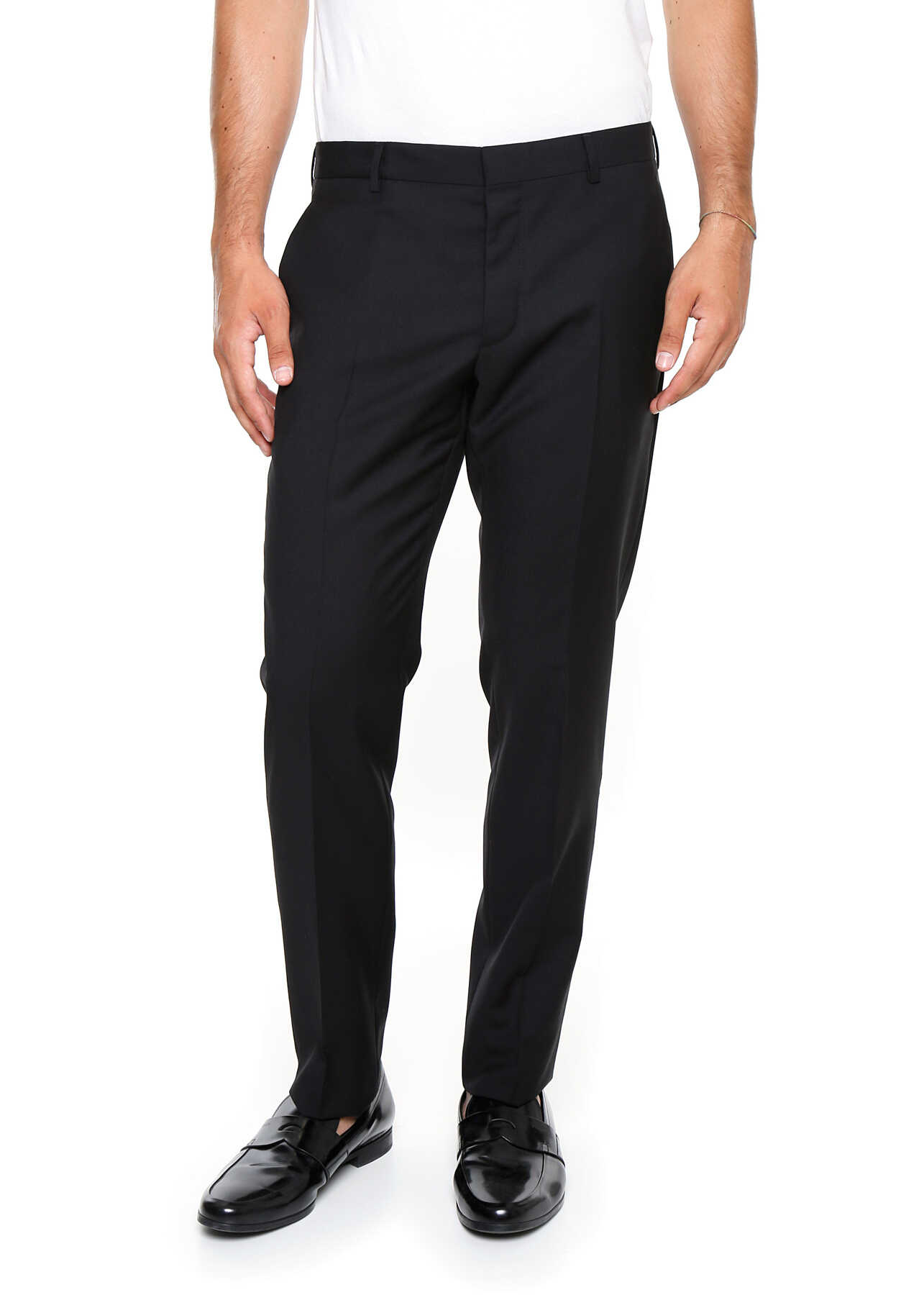 Pantaloni Barbati Prada Lightweight Wool Trousers