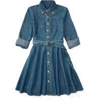 Rochii Denim Fit-and-Flare Shirtdress Fete
