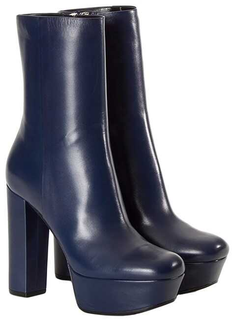 Gucci Leather Boots Blue