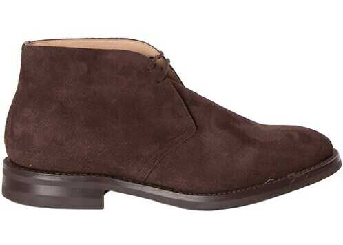 Church's Laced Suede Shoes RYDER 3 81 BROWN Brown imagine b-mall.ro