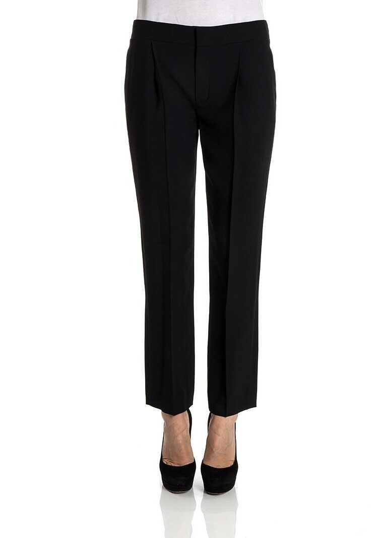 Pantaloni Femei Chloe Trousers Black