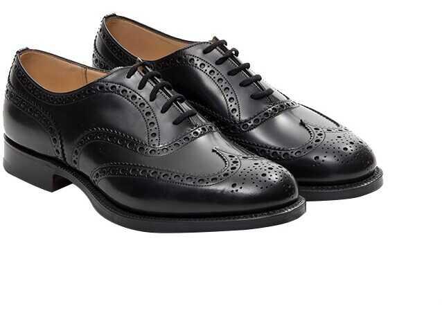 Church's Derby Leather Shoes BURWOOD 7340/51 Black imagine b-mall.ro