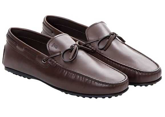 TOD'S Leather Loafers Brown - Incaltaminte barbati