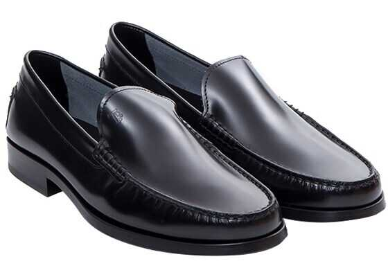 Tods Leather Loafers Black