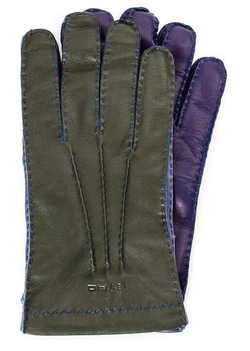ETRO Leather Gloves Multi