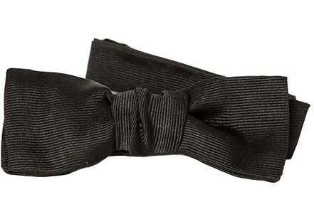 Saint Laurent Silk Bow Tie Black