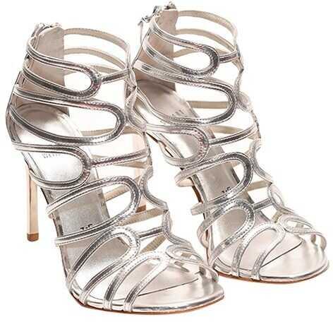 Stuart Weitzman Sandals With Heel Silver