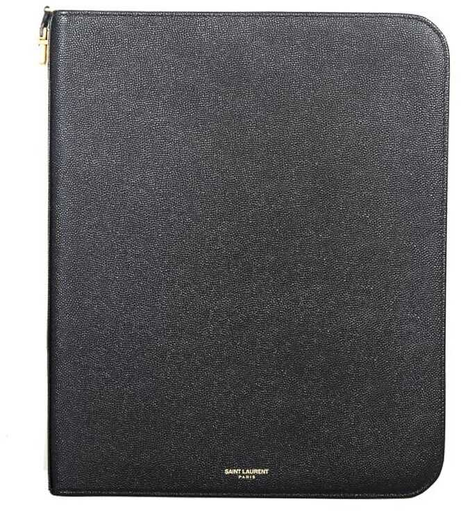 Saint Laurent Leather Tablet Case Black