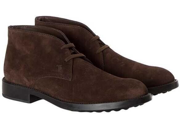 TOD'S Suede Desert Boots XXM0ML00D80RE0S800 Brown imagine b-mall.ro
