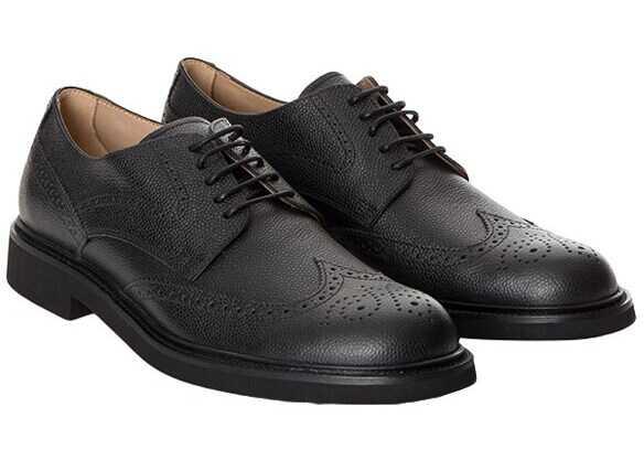 TOD'S Oxford Leather Shoes XXM0XI00C10SHKB999 ALL. BUCATURE XI SHK NERO Black imagine b-mall.ro