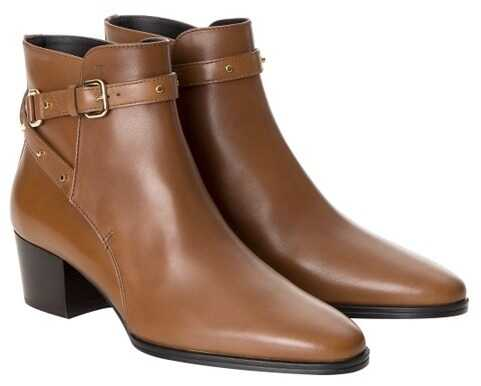 TODS Leather Ankle Boots Brown