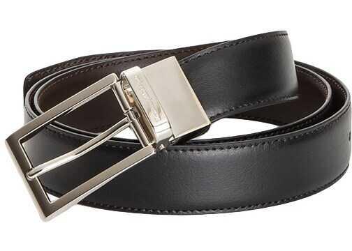 Ermenegildo Zegna Leather Belt Black