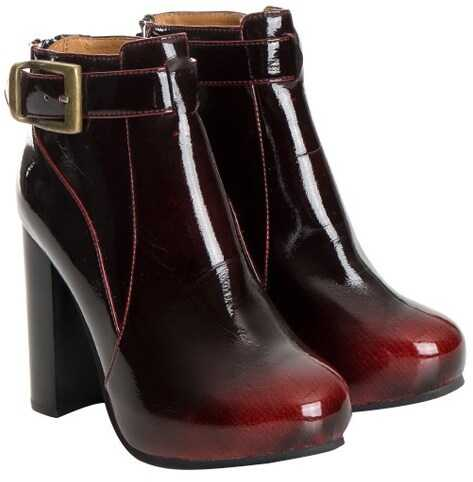 Jeffrey Campbell Patent Leather Boots Purple