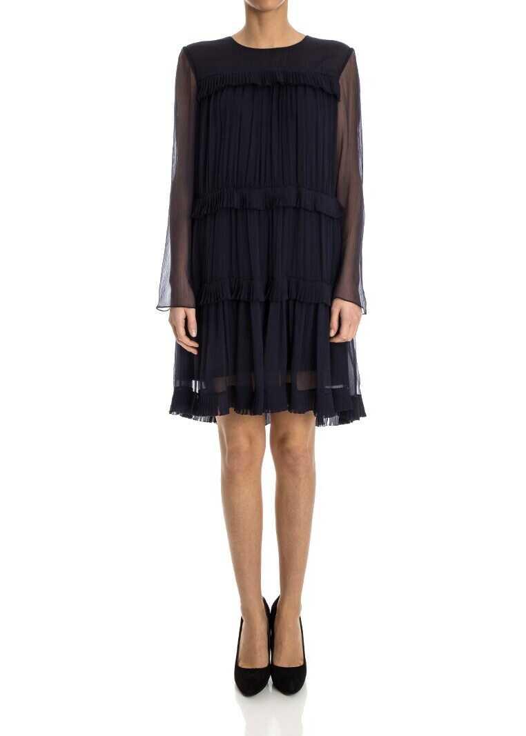 Chloe Silk Dress Blue
