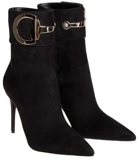 Gucci Suede Ankle Boots Black